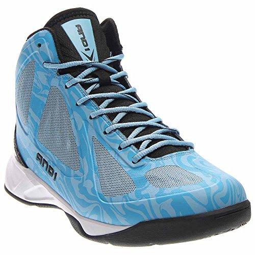 AND1 Men's Xcelerate Mid Sneaker,Carolina/Black/White,US 10 M