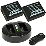 #2: Wasabi Power Battery (2-Pack) Dual Charger Fujifilm NP-W126