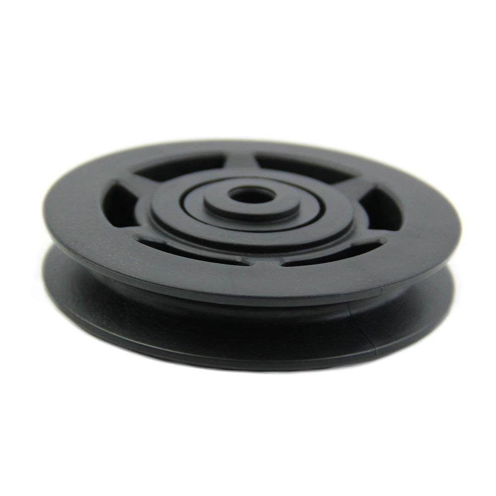 TOOGOO R Poulie a roulement noir 95 mm equipement de gymnastique par cable inusable lequipement de conditionnement physique