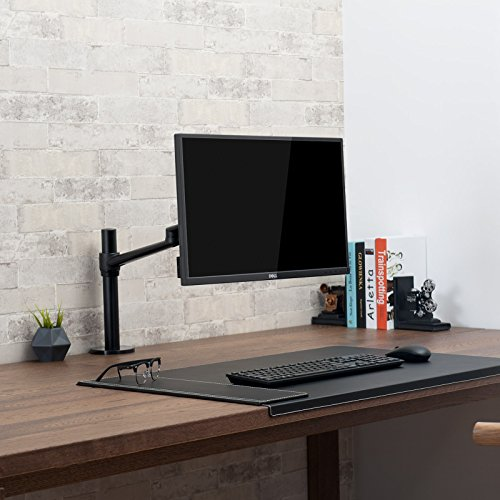 UPERGO Single Computer Monitor Desk Mount Stand Fits up to 32'' Computer Monitor Screen,Height Adjustable Monitor Mounting with 17.6lbs Capacity,Swivel LCD Monitor Mount Arm with Clamp,Grommet (OL-1) by UPERGO (Image #1)