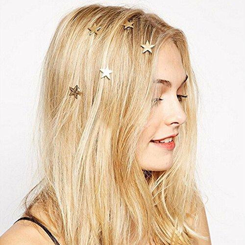 Wetietir 5 Pcs Women Girls Hair Clips Star Hair Pins Wedding Headpieces
