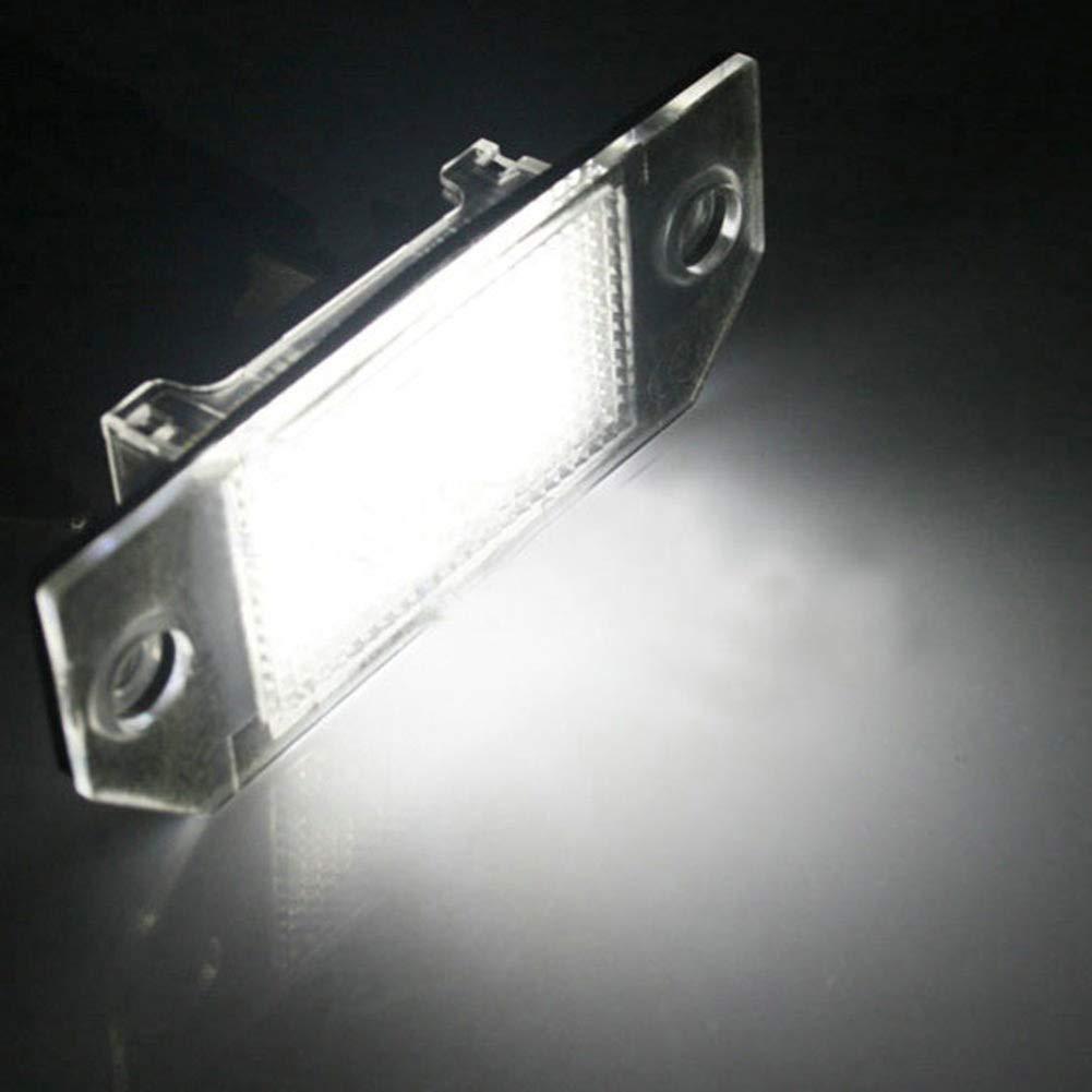 BONNIO Paquet de 2 24 Feux /à Del pour Plaque dimmatriculation pour Focus C-Max 03 et Focus MK2 03-08