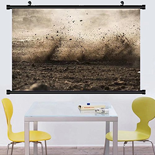 Gzhihine Wall Scroll Posterdirt fly after motocross roaring by ,Wall Art Paiting on Canvas 24