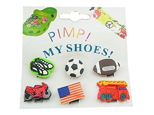 Clips Crocs Pin My Sticker 6X lordies Pimp Shoes Z33 Für Clogs YPqEHgx