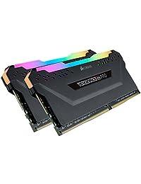 Corsair CMW32GX4M2C3200C16 Vengeance RGB PRO 32GB (2x16GB) DDR4 3200 (PC4-25600) C16 - Memoria para escritorio, color negro