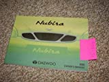 2000 Daewoo Nubira Owners Manual