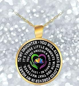 Amazon.com: padre Hija Jewelry – Cadena de Oro Collar ...