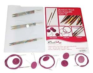 KnitPro Symfonie - Kit para principiantes de agujas intercambiables, varios colores