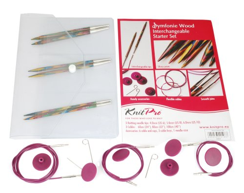 Knit Pro Symfonie Wood Circular Needle Interchangeable Starter Set by Knit Pro
