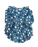 RuffleButts Baby/Toddler Girls Poppy Seed Waterfall Bubble Romper - 6-12m