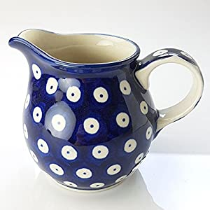 Polish Pottery Creamer Milk Jug – Blue Eyes