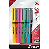 Pilot Precise V5 Stick Rolling Ball Pens, Extra Fine Point 0.5mm, 7 Colors (31887)