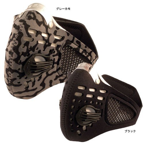 RESPRO large Pawabarubu equipment mesh specification sports model sports data mask black L