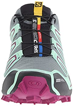 Salomon Women's Speedcross 3 Cs W Trail Running Shoe, Light Ttlucite Greenmystic Purple, 5 B Us 3
