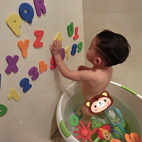 Amazon.com: Vktech® 36pcs Educational Floating Bath Letters ...