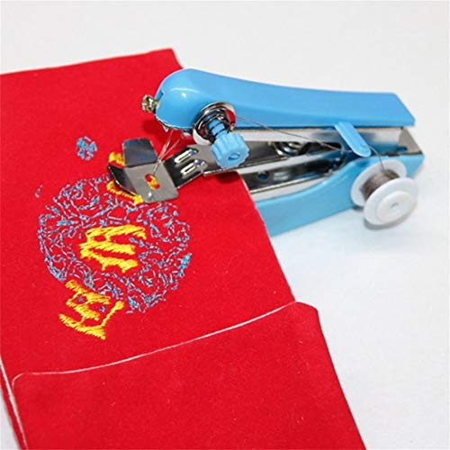 Home Essential Travel Use Mini Portable DIY Needlework Cordless Hand Sewing Machines Hand-Held Clothing Fabrics Electric Sewing Machine