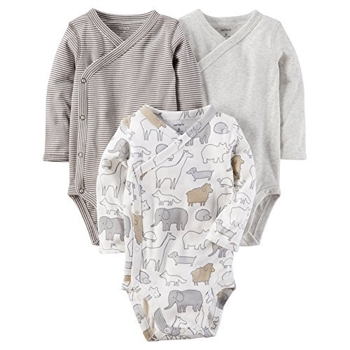 (Carter's Baby 3-Pack Side Snap Printed Bodysuits 6 Months )