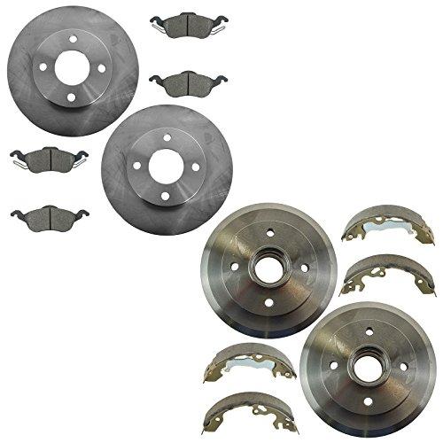 Rear Posi Ceramic Disc Brake Pad Rotor /& Hardware Kit for Hyundai Azera Sonata