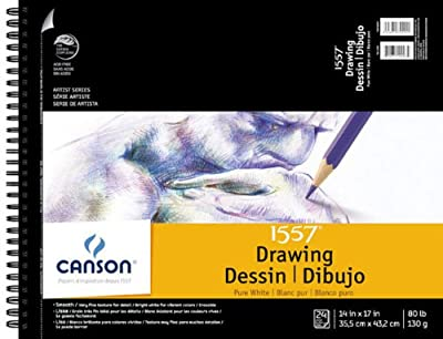 Canson Pure White Drawing Pads 14 in. x 17 in.
