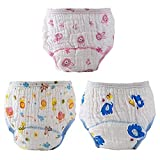 Baby Cloth Diapers Training Pants Underwear,Reusable Washable Breathable/Comfort Cotton,Anti-Side Leakage