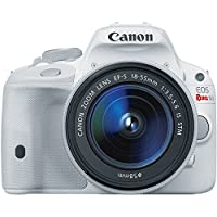 Canon EOS Rebel SL1 Digital SLR with 18-55mm STM Lens (White) Overview Review Image