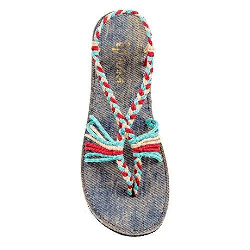 Plaka Flat Summer Sandals for Women Three Colors 9 Seashell ()