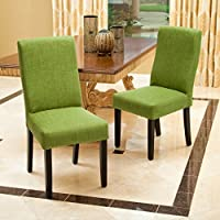 Heath Green Fabric Dining Chairs (Set of 2)