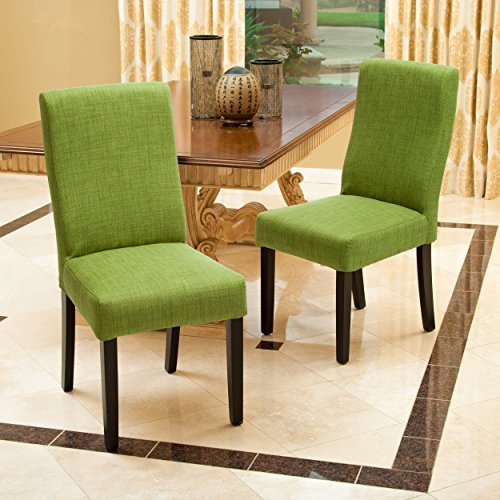 Heath Green Fabric Dining Chairs