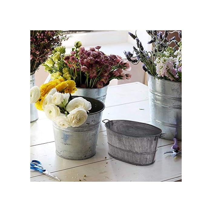 Galvanized-Flower-Pot