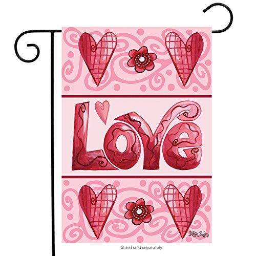 """Love Hearts Valentine's Day Garden Flag Briarwood Lane 12.5"""""""