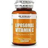 Dr. Mercola Liposomal Vitamin C 1.000mg per Serving - 60 Capsules - 30 Servings - Higher Bioavailability Potential & Protection Against Intestinal Discomfort