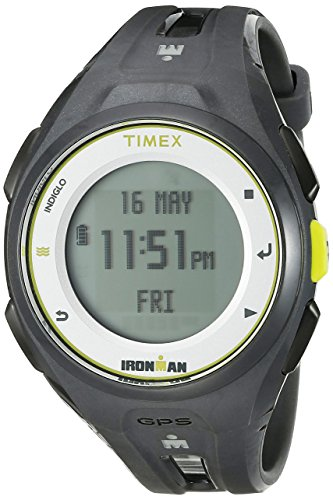 Timex Unisex TW5K87300 Ironman Run x20 GPS Full-Size Charcoal Resin Strap Watch
