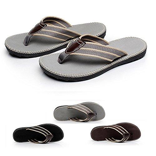 Aerusi Causal Day Use Men Slide Flat Sandal Primo Thong Flip Flop Gray f64vJ