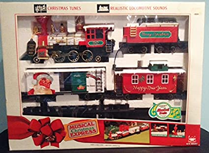 Amazon.com: New Bright Musical Christmas Express Train Set ...