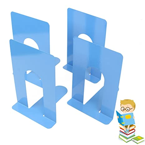 Delicieux Metal Universal Economy Office Bookends For Shelves,8 Inch,2 Pairs In Blue  Color