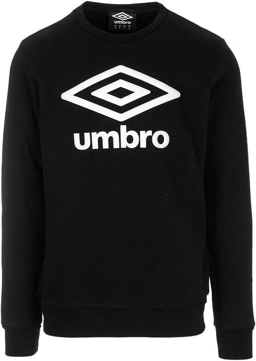 Umbro Felpa Sportiva Uomo Nero cotone Crew Essential Sportswear