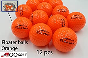 A99 Floating Golf Ball Floater Float Water Range 12pcs, Orange by A99 golf