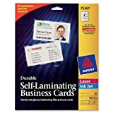Avery Durable Self- Laminating Business Cards Pack of 20, White (75361)