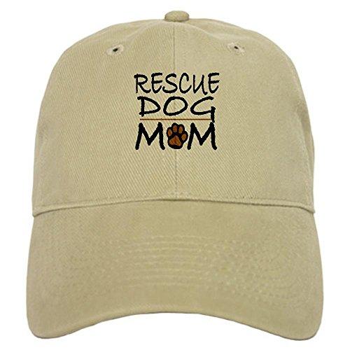CafePress - Rescue Dog Mom Cap - Baseball Cap with Adjustable Closure, Unique Printed Baseball Hat