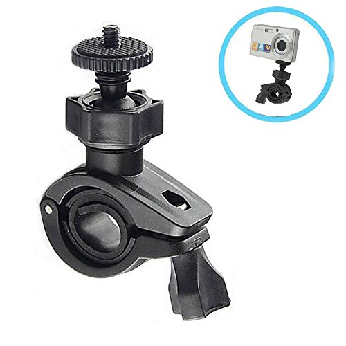 Motorcycle Handlebar Mount Adapter, Walway Universal Bike/ Bicycle Bracket Mount Holder for GoPro Hero/ Bluetooth Speakers/ Cameras/ Recorders