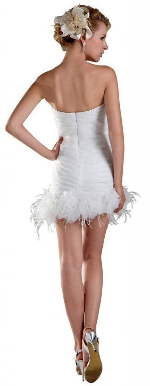 Dearta Women's Sheath/Column Sweetheart Short/Mini Tulle Wedding Dresses