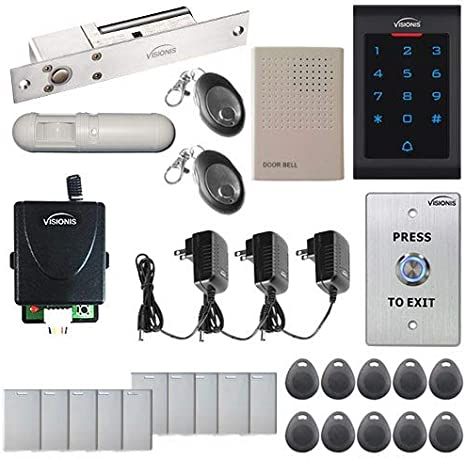 Visionis VIS-3002 Access Control Indoor Only Plastic Housing Keypad and Reader Standalone No Software 125khz Em Card Compatible 500 Users with Internal Doorbell 3 year warranty