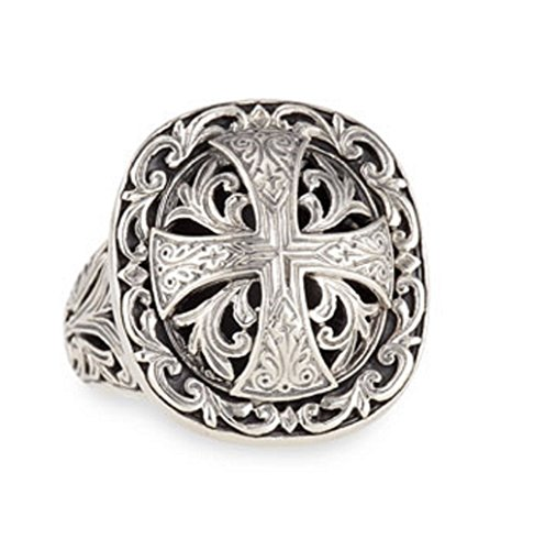 Konstantino Sterling Silver Maltese Cross Ring