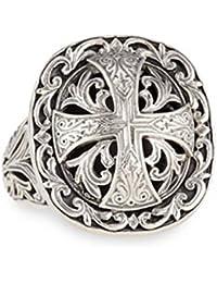 Women's 100 Sterling Silver Cross Ring