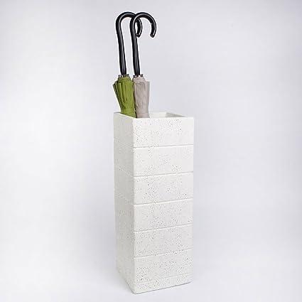 Cerámica Blanca Creatividad Moda Barril de Flores Paraguas Barril Cubo de Almacenamiento Simple Hogar Oficina Restaurante Resina de protección Ambiental ...