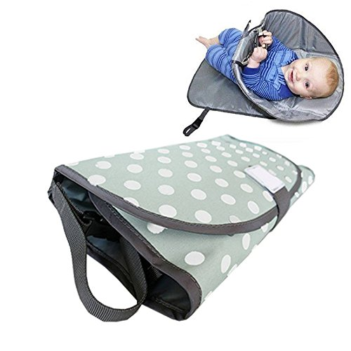 Waterproof Baby Diaper Changing Pad Clean Hands 3-in-1 Folding Diaper Clutch Mat (Gray) oolilioo