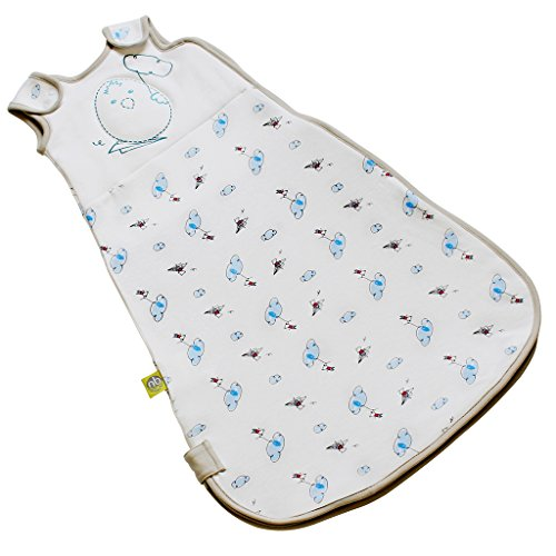 Nested Bean Zen Sack Classic - Adjustable Cotton Wearable Blanket | Baby Sleeping Bag (0-6 Months, Flying Adventures of Mouse)