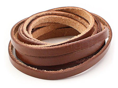 CleverDelights Genuine Leather Strap - Brown - 1/4