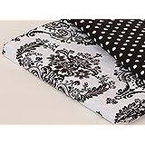 Bacati Classic Damask White/Black Crib Fitted Sheet