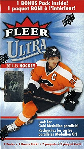 2014/15 Upper Deck Fleer Ultra Hockey Factory Sealed Retail Box with 8 Packs ! Brand New ! Hot ! (2014 Deck Upper Box)